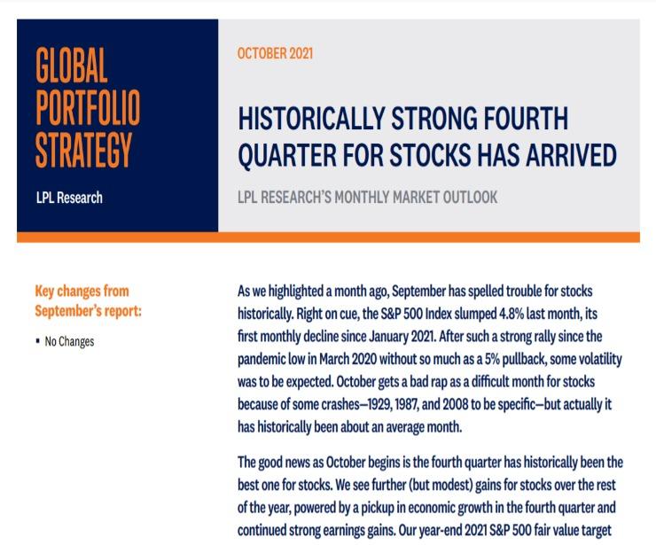 Global Portfolio Strategy | October 11, 2021